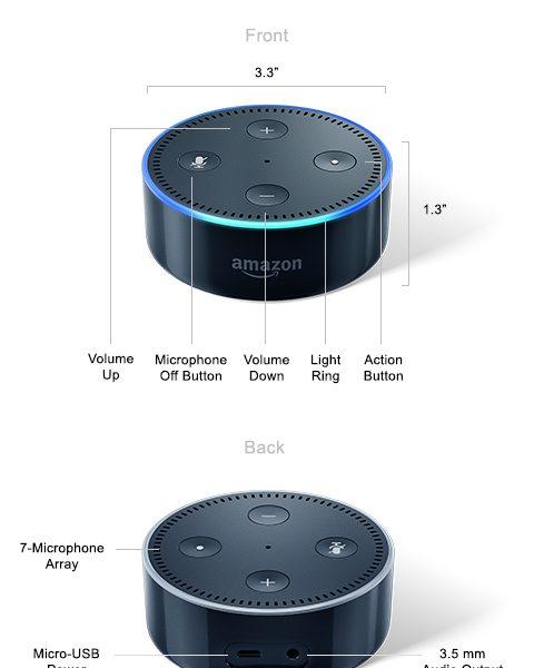 Echo Dot Top Back