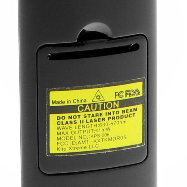 Klip Xtreme Kommander Wirless Remote Control Caution Label