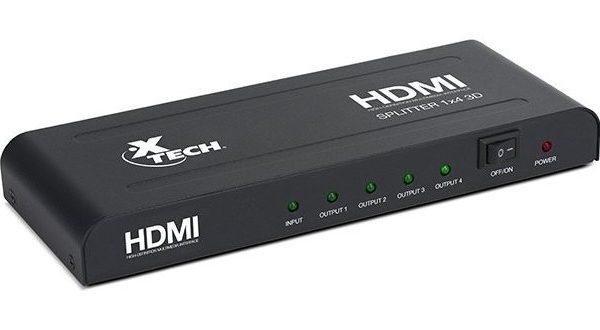 Xtech XHA410 HDMI 4 Way Splitter With Power