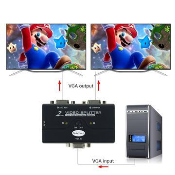 JideTech VGA Video Splitter 1 to 2 example