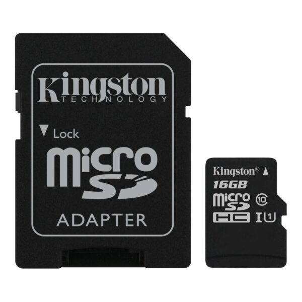 Kingston 16GB Micro SD Card With Adapter -MicroSDHC UHS-1