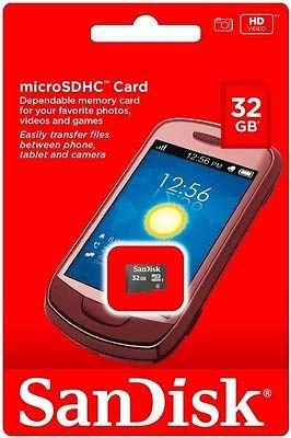 SanDisk 32GB Micro SD Card - MicroSDHC Class 4 C4 Package