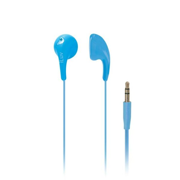 iLuv Bubble Gum 2 3.5mm Jelly Type Stereo Earbuds Blue