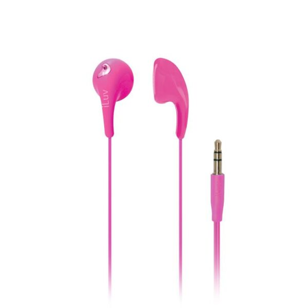 iLuv Bubble Gum 2 3.5mm Jelly Type Stereo Earbuds Pink