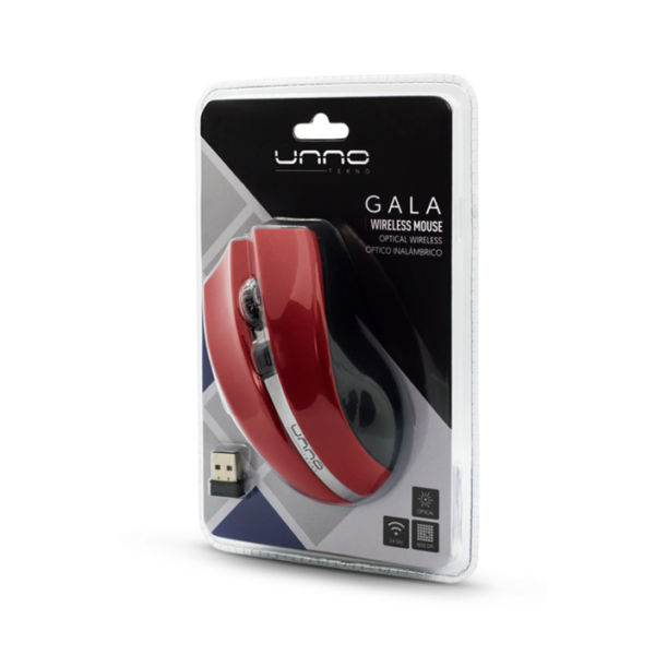 Gala Wireless Mouse Package - Red