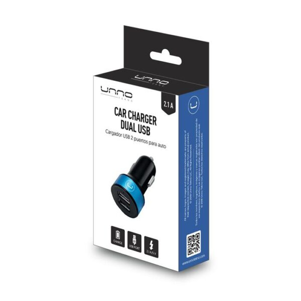 DUAL PORT USB CAR CHARGER 2.1A Package