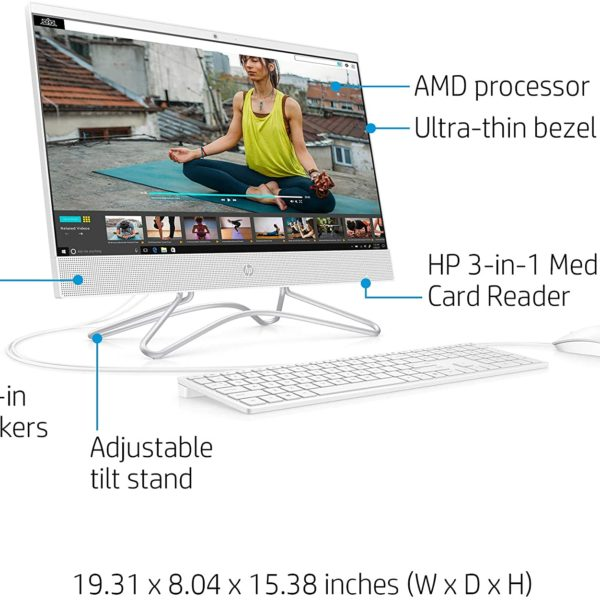 HP 21.5-Inch All-in-One Computer Front 2