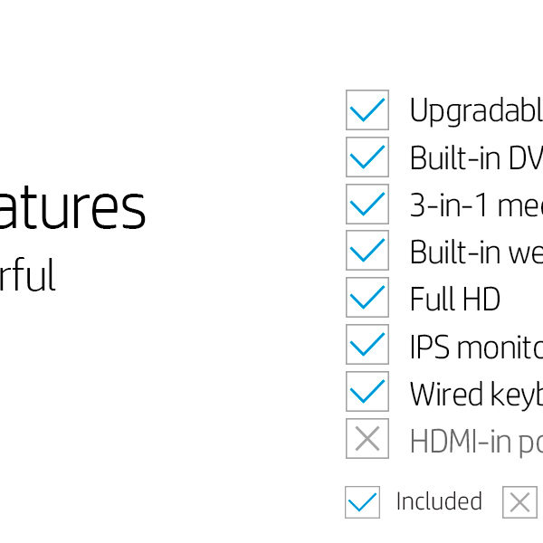 HP All In One Addition Features
