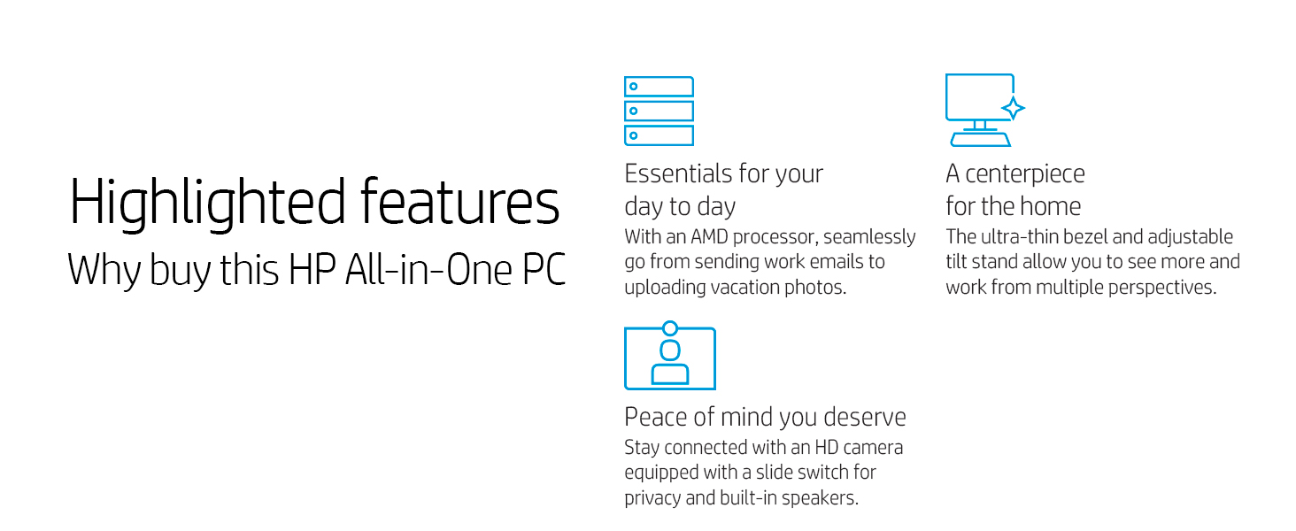 HP All In One Highlighted Features