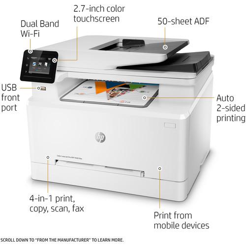 HP M281fdw Color Laser Printer Controls