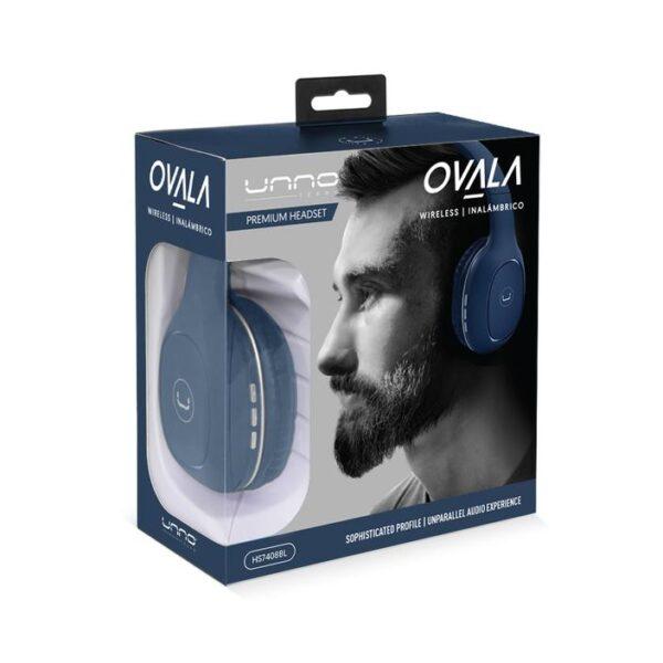 OVALA Bluetooth 5.0 WIRELESS HEADSET Blue Package