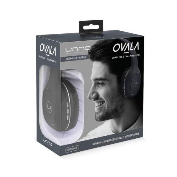 OVALA Bluetooth 5.0 WIRELESS HEADSET Gray Package
