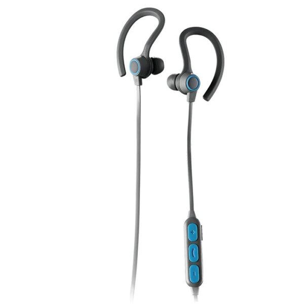 SPORTBUDS BT Bluetooth WIRELESS EARBUDS with MIC Blue Controls