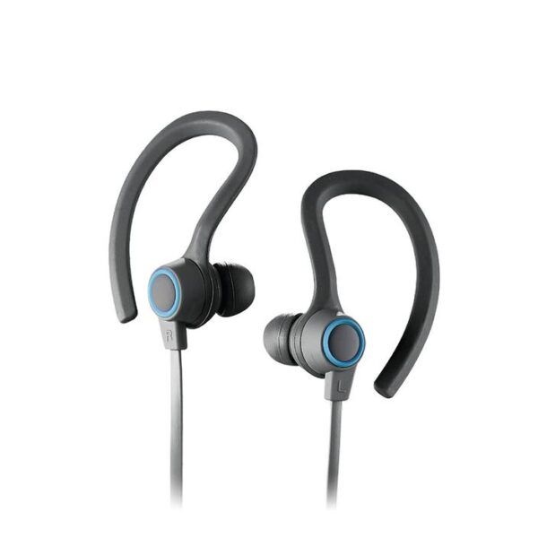 SPORTBUDS BT Bluetooth WIRELESS EARBUDS with MIC Blue Ear Hook