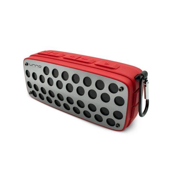 Titanium Bluetooth speaker - TWS (True Wireless Stereo) Splash Proof Red
