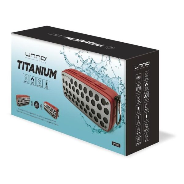 Titanium Bluetooth speaker - TWS (True Wireless Stereo) Splash Proof Red Package