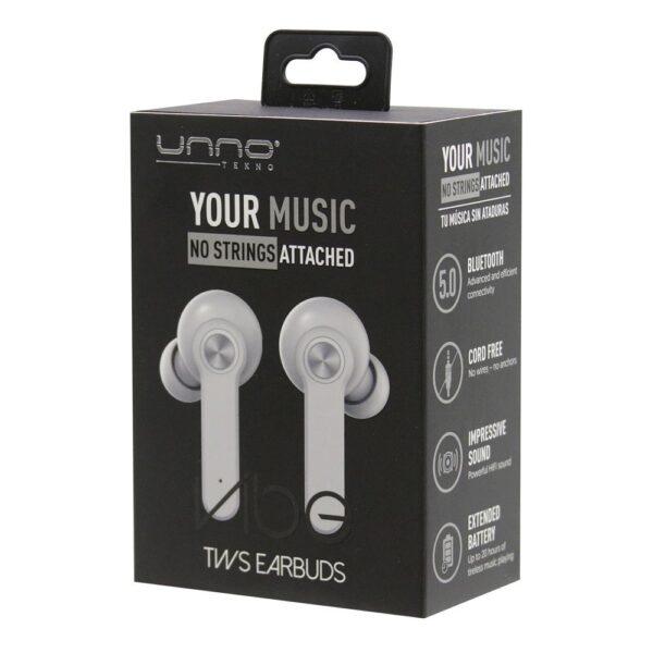 VIBE TWS True Wireless Stereo WIRELESS EARBUDS White Package