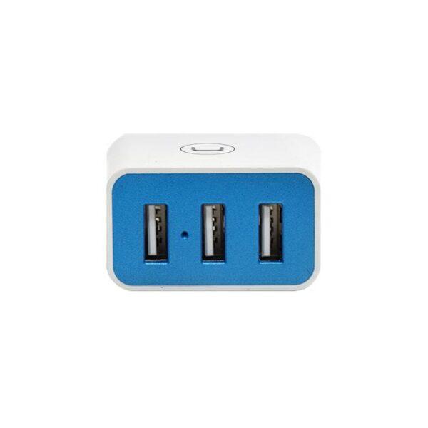 WALL CHARGER TRIPLE USB 3.4A Horizontal