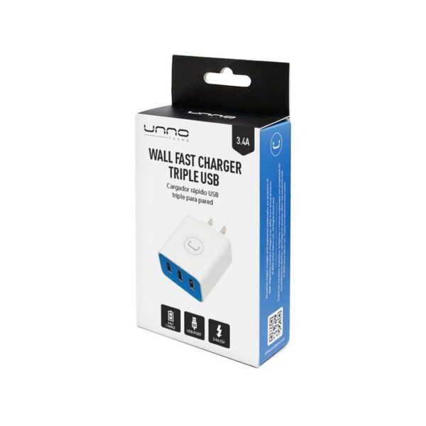 WALL CHARGER TRIPLE USB 3.4A Package