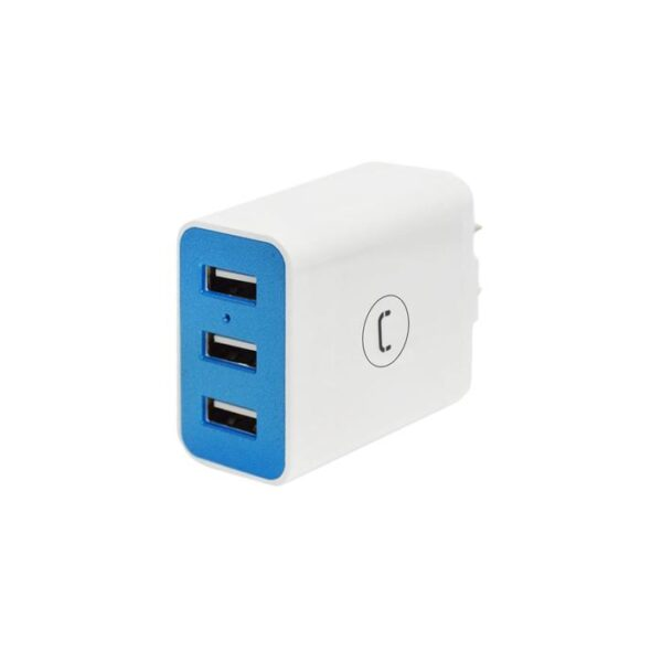 WALL CHARGER TRIPLE USB 3.4A Vertic;e