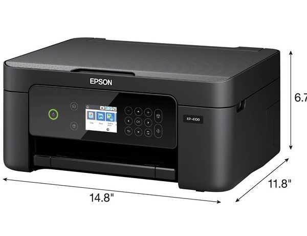 Epson XP-4100 All In One Wireless Printer Dimensions