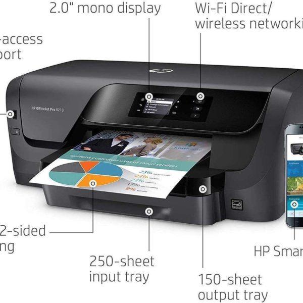 HP OfficeJet Pro 8210 Printer Diagram