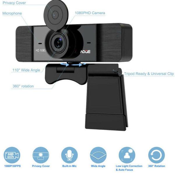 AOGE 1080p Webcam 7