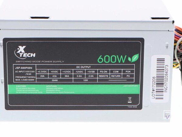 XTEch 600 Watt Power Supply 1