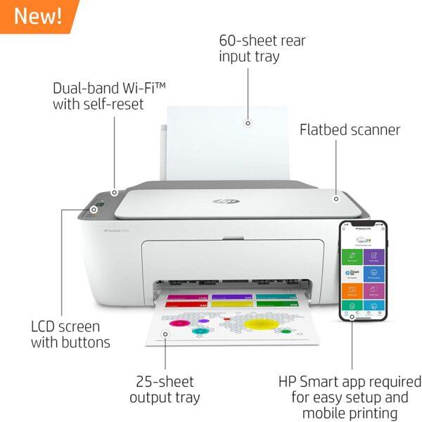 HP DeskJet 2755 Wireless All in One Printer 2