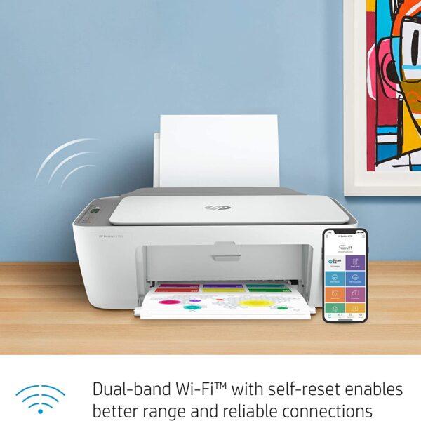 HP DeskJet 2755 Wireless All in One Printer 4