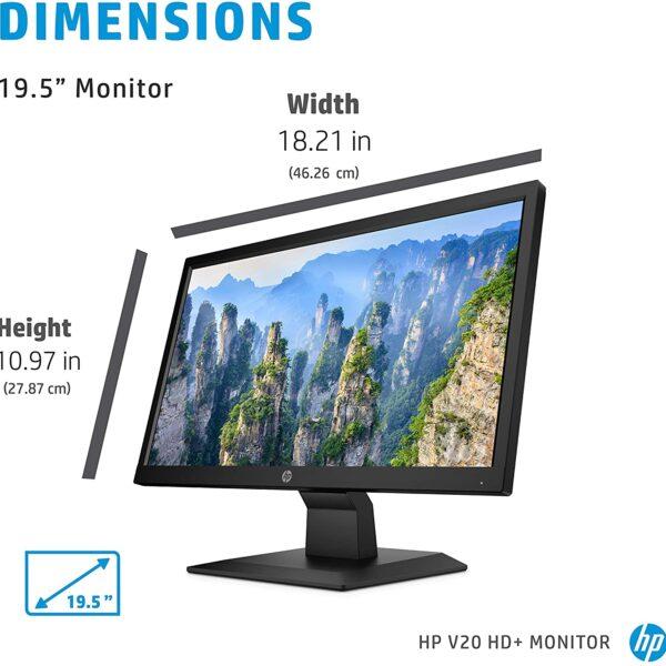 HP V20 HD Monitor 19.5 inch Diagonal HD Computer Monitor 3