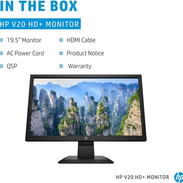 HP V20 HD Monitor 19.5 inch Diagonal HD Computer Monitor 4