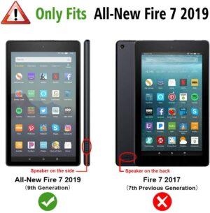 Fintie Slim Case forAmazon Fire 7 Tablet 9th Generation 3